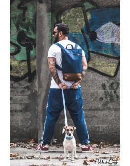 kék farmer férfi hátizsák