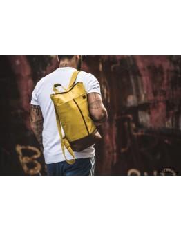 Okkersárga farmer férfi hátizsák