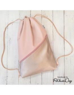 ezüst-pink gymbag