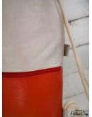 pezsgő-narancs kockás gymbag