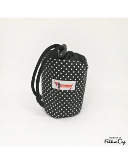 fekete polka mini jutalomfalat tartó