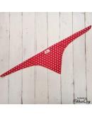 piros csíkos megkötős kendő