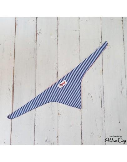 kék csíkos megkötős kendő