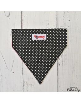 fekete polka nyakörves kendő