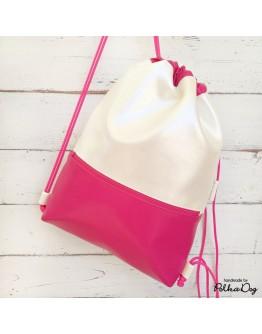 gyöngyház-pink gyerek gymbag