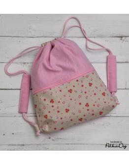 pink rózsás gyerek gymbag