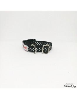 fekete polka mini nyakörv