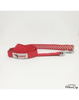 piros polka mini póráz