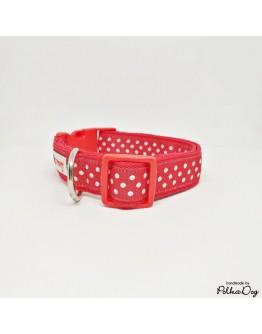 piros polka nyakörv