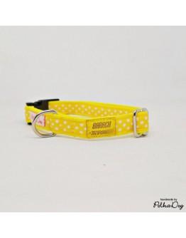 sárga polka mini nyakörv