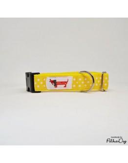 sárga polka nyakörv
