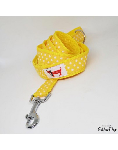 sárga polka póráz