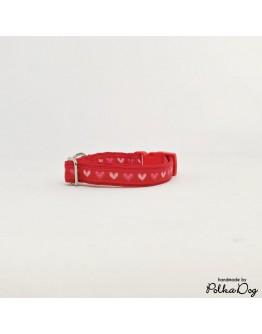 piros szívecskék mini nyakörv