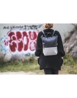 3:1 fekete-ezüst táska