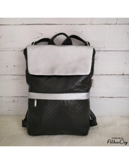 MINI fekete & ezüst hátizsák