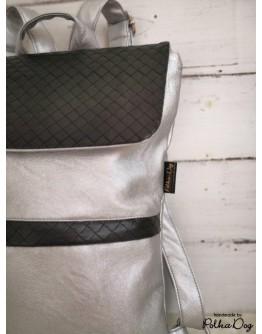 MINI ezüst & fekete hátizsák