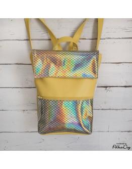 MINI sárga & hologramos hátizsák