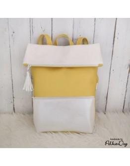 gyöngyház-sárga hátizsák