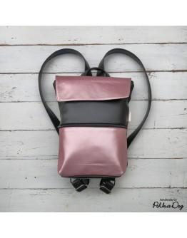 MINI fekete & rosegold hátizsák