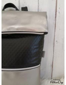 steppelt fekete - ezüst hátizsák