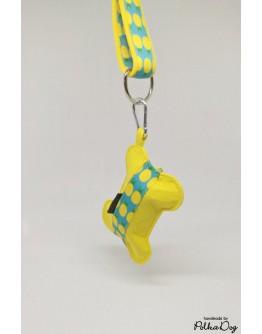 szalaggal díszített zacsitartó - más mintákhoz is rendelhető