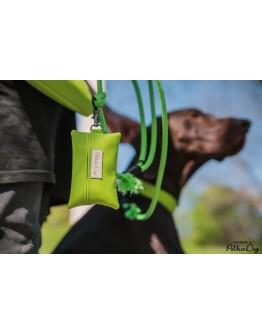 zöld textilbőr zacsitartó