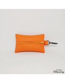 narancs textilbőr zacsitartó