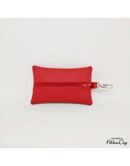 piros textilbőr zacsitartó